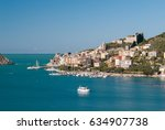 view of portovenere  small town ... | Shutterstock . vector #634907738