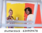 happy smiling young couple... | Shutterstock . vector #634909478