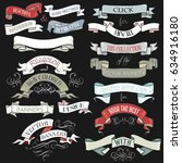 set of vintage banners and... | Shutterstock .eps vector #634916180