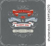 set of vintage banners and... | Shutterstock .eps vector #634916270