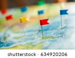 travel concept with flag... | Shutterstock . vector #634920206