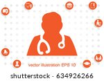 doctor icon vector illustration | Shutterstock .eps vector #634926266