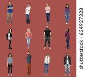various of diversity people... | Shutterstock . vector #634927328