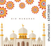 muslim mosque on white... | Shutterstock .eps vector #634928840