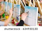 painting at art school. | Shutterstock . vector #634930130