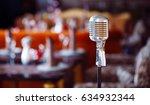 retro karaoke microphone on... | Shutterstock . vector #634932344