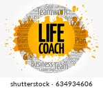 life coach word cloud collage ... | Shutterstock .eps vector #634934606