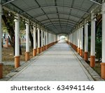 tunnel corridor to the library | Shutterstock . vector #634941146