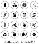 fruit icons | Shutterstock .eps vector #634947056