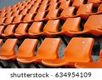 row of chairs for sport fc | Shutterstock . vector #634954109