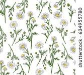 chamomile wild field flower... | Shutterstock .eps vector #634955780