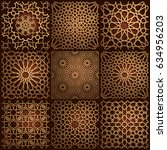 set of islamic oriental... | Shutterstock .eps vector #634956203