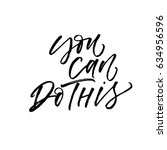 you can do this card. ink... | Shutterstock .eps vector #634956596