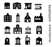 buildings vector icons set on... | Shutterstock .eps vector #634960058