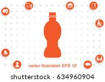 bottle icon vector illustration ...