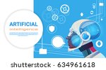 artificial intelligence modern... | Shutterstock .eps vector #634961618
