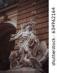 Small photo of 14 July 2016 - Odessa, Ukraine. Sculpture on the facade Odessa Opera and Ballet Theater