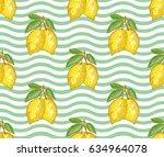 elegant seamless pattern with... | Shutterstock .eps vector #634964078