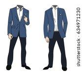 well dressed business man... | Shutterstock .eps vector #634971230