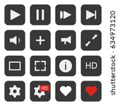 media player vector icons...