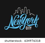 new york city t shirt design.... | Shutterstock .eps vector #634976318