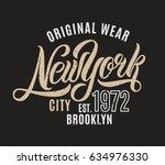 new york city t shirt design.... | Shutterstock .eps vector #634976330