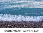Sea Surface With White Wave...