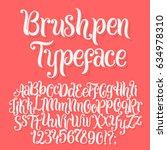 brushpen typeface. handwritten... | Shutterstock .eps vector #634978310