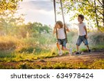 two children  boy brothers ... | Shutterstock . vector #634978424