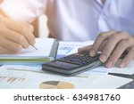 businessman analyzing... | Shutterstock . vector #634981760