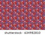 seamless tropical flowers ... | Shutterstock . vector #634982810