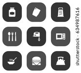 set of 9 cooking icons set... | Shutterstock .eps vector #634987616