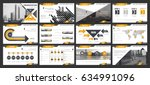 creative set of abstract... | Shutterstock .eps vector #634991096