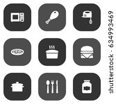 set of 9 cooking icons set... | Shutterstock .eps vector #634993469