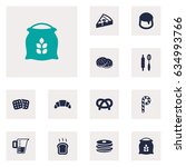 set of 12  icons set.collection ... | Shutterstock .eps vector #634993766