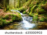 Waterfall River Stream In Green ...