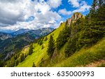 mountain green summit landscape | Shutterstock . vector #635000993
