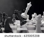 Black And White Chess Battle...