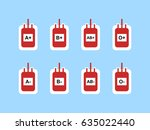 blood bags sign symbol icon for ... | Shutterstock .eps vector #635022440