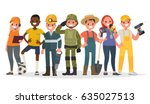 people of different professions.... | Shutterstock .eps vector #635027513