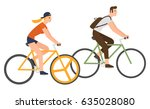flat design people riding... | Shutterstock .eps vector #635028080