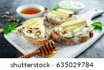 Appetizer Bruschetta With Pear...