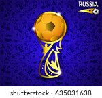 eps 10 vector russia football... | Shutterstock .eps vector #635031638