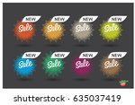 set of colorful round abstract...   Shutterstock .eps vector #635037419