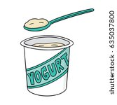 vector set of yogurt | Shutterstock .eps vector #635037800