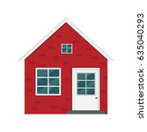 house illustration. | Shutterstock .eps vector #635040293