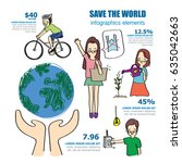 save world infographics   | Shutterstock .eps vector #635042663