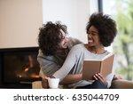 young beautiful multiethnic... | Shutterstock . vector #635044709