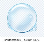 vector soap water bubbles.... | Shutterstock .eps vector #635047373