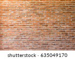 old clay brick wall texture.... | Shutterstock . vector #635049170